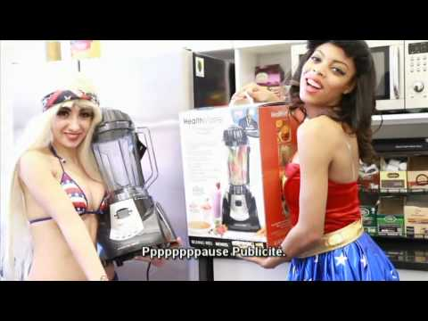 Lady Gaga Telephone Parody ft Beyonce - Key of Awesome (FRENCH SUBS!)
