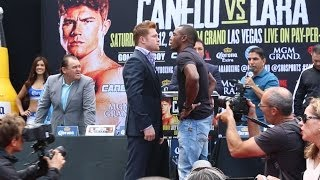 Canelo Vs. Lara: Los Angeles Press Conference & Face Off Video