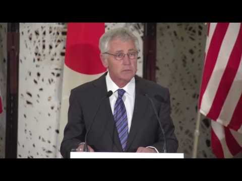 Secretary Hagel Press Conference In Japan