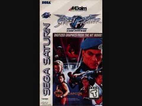 Street Fighter The Movie Game Theme of Guile vs M.Bison