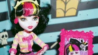 Monster High Draculaura Aula De Arte Boneca Unboxing