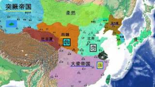 East Asian And China Maps By Year