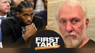 First Take debates how much 'damage' Kawhi Leonard has caused Spurs | First Take | ESPN