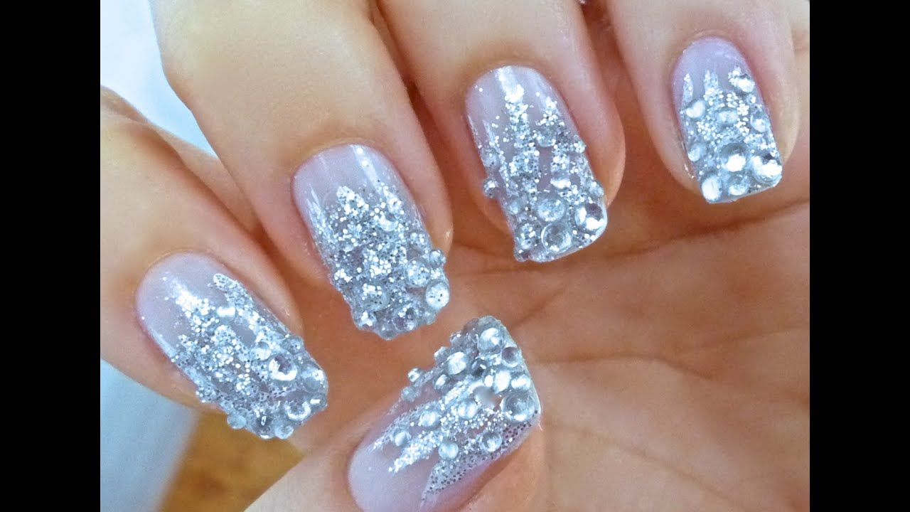 Unhas Decoradas - Diamante - Nail Art - YouTube