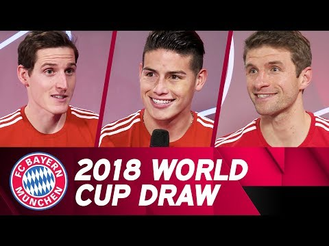 Müller, Rudy & James Rodríguez | Reactions to the World Cup Draw ????