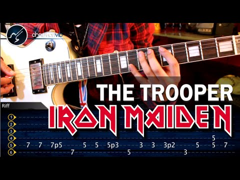 Como tocar The Trooper - IRON MAIDEN - en guitarra electrica (HD) Tutorial