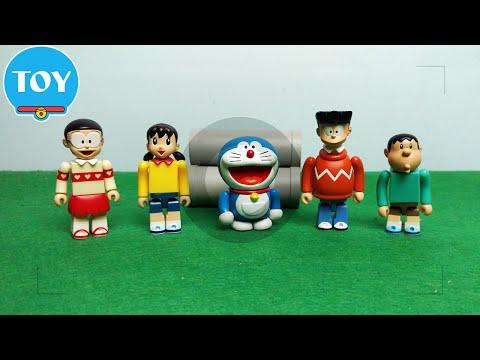 Máy chụp ảnh hoán đổi thân xác Nobita Xuka - hoạt hình doremon chế đồ chơi trẻ em