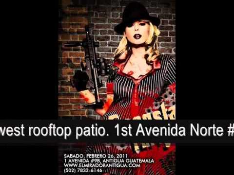 GANGSTA NIGHT ON TOP OF EL MIRADOR ANTIGUA ROOFTOP PATIO BAR