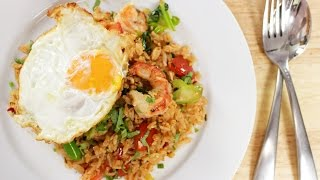 Tom Yum Fried Rice ข้าวผัดต้มยำ - Hot Thai Kitchen