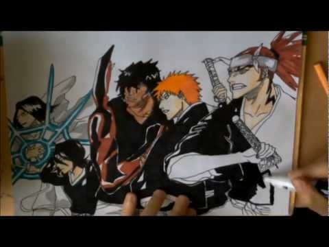 Drawing a bleach wallpaper HD 1080p (by DraftsmanMomo93)