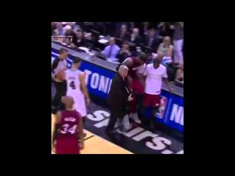 Lebron James carried because of cramps  REMIX 6-5-2014