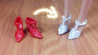 DIY How to repaint Barbie shoes / Handmade Biến hóa giày cũ thành giày mới đẹp cho búp bê / Ami  DIY