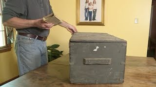When A Guy Rescued This Old Trunk From A Dumpster, What He Found Inside Brought Its Owner To Tears
