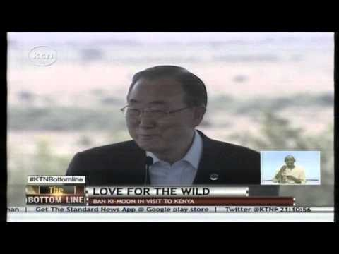 UN Sec. General Ban Ki Moon adopts a lioness at Nairobi National Park