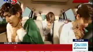 3 Girls Amazing Dance Telugu Songs Performance in Car at TANA