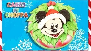 Mickey Mouse Christmas Cake  (How To) Feat: soundlyawake