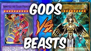 SACRED BEASTS vs EGYPTIAN GODS! (Yu-gi-oh God Card Deck Duel!)