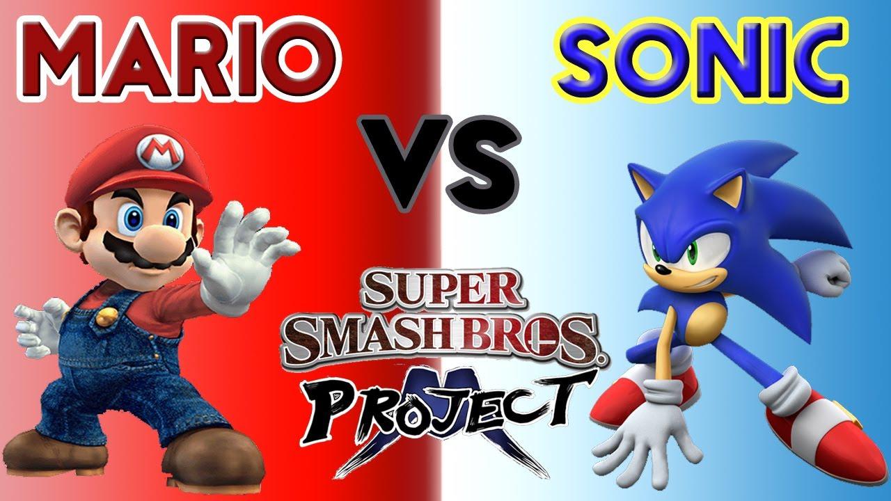 Sonic vs mario project m 2 5 super smash brothers brawl youtube