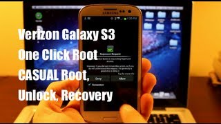 HOW TO ROOT Verizon Galaxy S3 CASUAL One Click Root