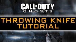 CoD Ghosts Warhawk Throwing Knife Tutorial / Throwing Knife Spots / Bomb Spots