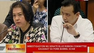 BT: Imbestigasyon ng Senate blue ribbon committee kaugnay sa pork barrel scam