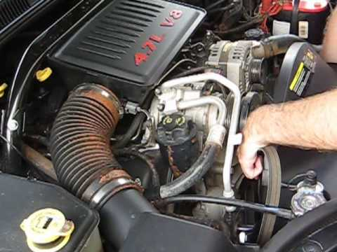 01 jeep cherokee fuse box diagram how to change your serpentine belt     jeep    4 7l youtube  how to change your serpentine belt     jeep    4 7l youtube