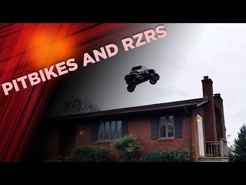 Pitbikes and RZRs at Pastranaland   Nitro Mechanics
