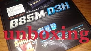 UNBOXING GIGABYTE GA B85M-D3H MOTHERBOARD