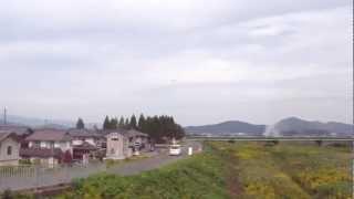鯖江陸上自衛隊の イベントに F15が 低空飛行