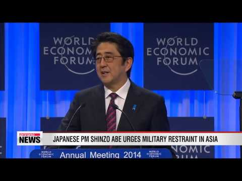 Japanese Prime Minister Shinzo Abe urges military restraint in Asia