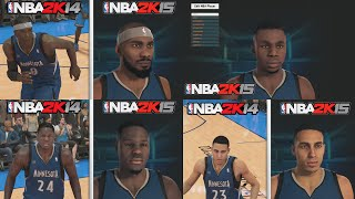 NBA 2K15 Graphics Comparison, Minnesota Timberwolves