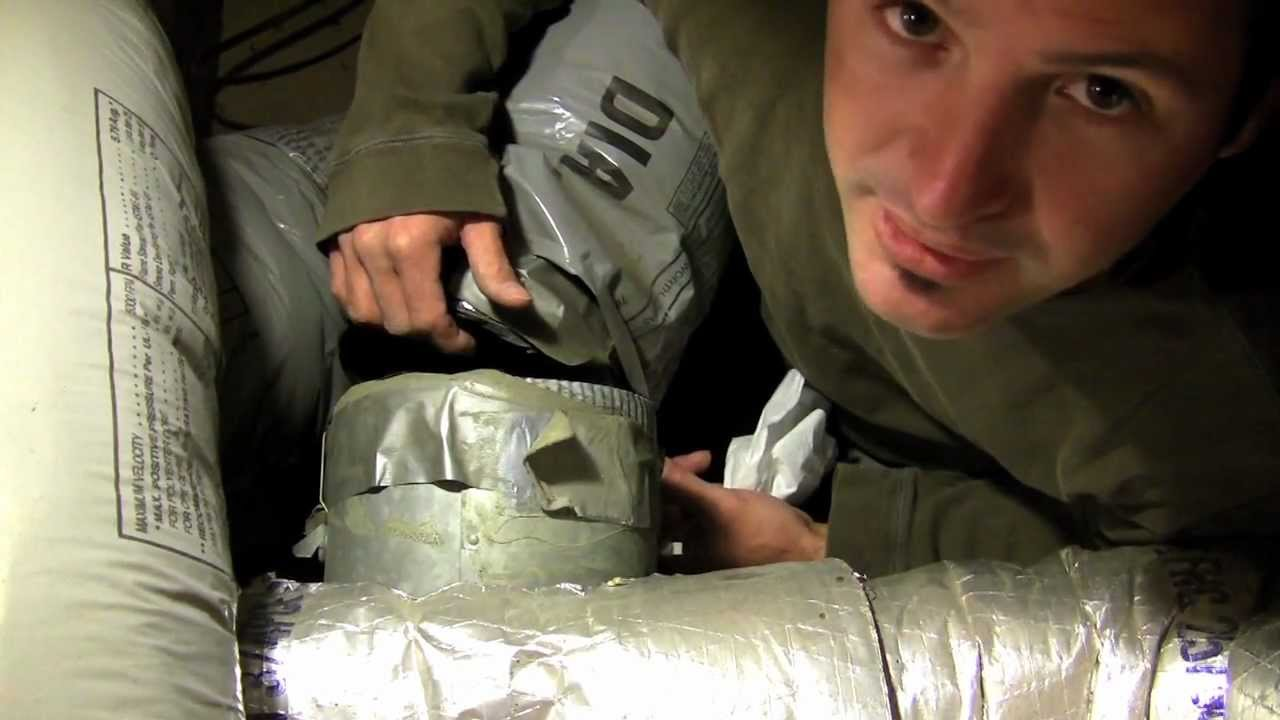 Installing Flexible Duct Insulated Duct Diy Youtube
