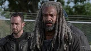 The Walking Dead 7x13 Morgan Kills Richard