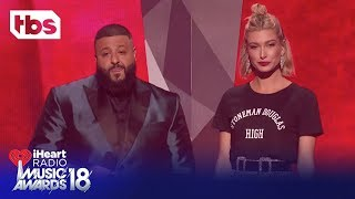 DJ Khaled & Hailey Baldwin: 2018 iHeartRadio Music Awards | Opening Monologue | TBS
