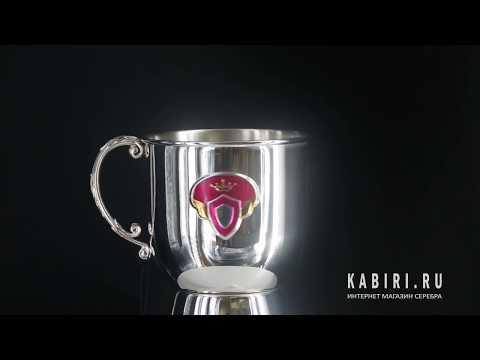 Набор детского серебра «Принцесса» КД с кружкой - Видео 1
