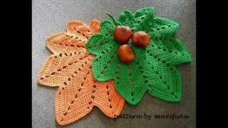 How To Crochet Hot Pad,doily Autumn Leaf Pattern For