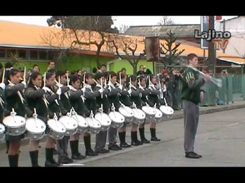 LAJINO.CL - Encuentro Escolar de Bandas de Guerra en Laja ( Video:1de2 )