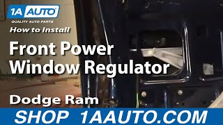 How To Install Repair Replace Front Power Window Regulator