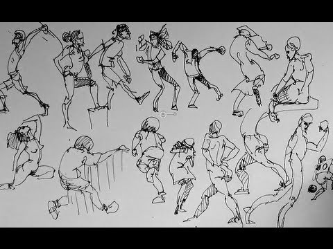 How to sketch & draw people Part 2   Gesture Drawing - YouTube