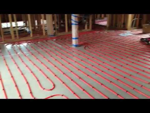 Pex Layout And Install On Wood Sub Floor Youtube