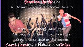 Criss ft.Carol Lorak -Come´on Up Up Official Song (Lyrics)