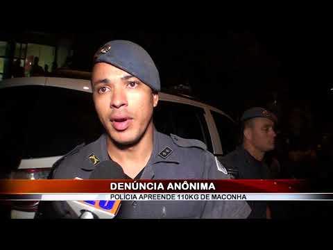 14/01/2018 - Denúncia leva equipes de Força tática e Canil a prender três indivíduos por tráfico de drogas e apreender mais de 110 kg de maconha