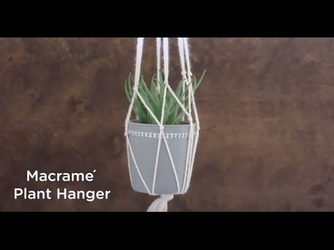 How to DIY a Macrame Plant Hanger