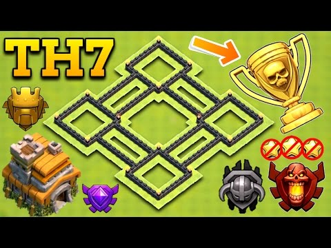 NEW INSANE TOWN HALL 7 (TH7) TROPHY BASE 2017 | CLASH OF CLANS