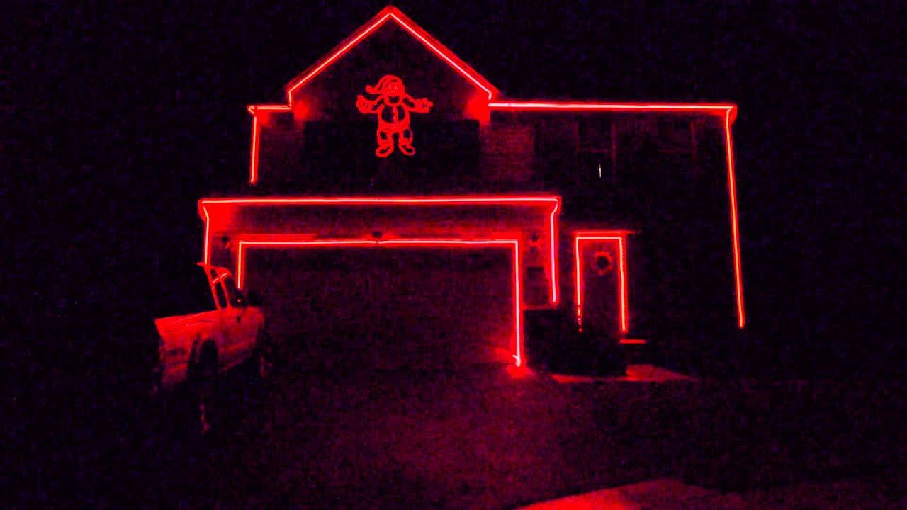 Laser Christmas Lights - YouTube