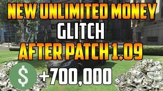 Gta 5 Online UNLIMITED MONEY GLITCH AFTER PATCH 1.09