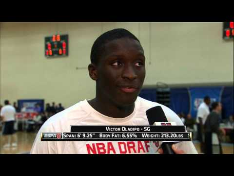 Victor Olapido at the NBA Draft Combine 2013