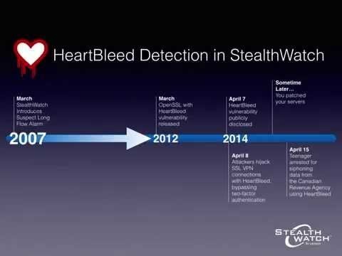 HeartBleed Bug: Preemptive Detection with Lancope's StealthWatch System