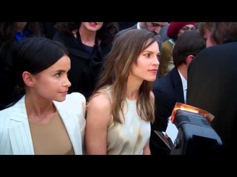 Hilary Swank @ Salvatore Ferragamo Milan Feb 2014 Pt 2