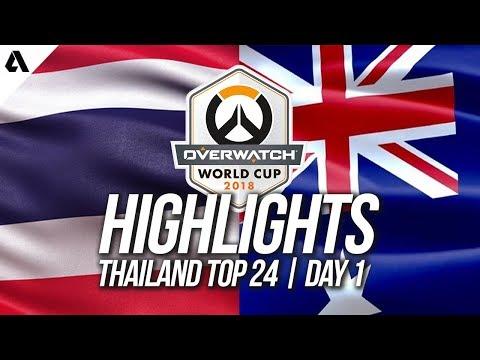 Australia vs Thailand | Overwatch World Cup 2018 Thailand Qualifier Day 1